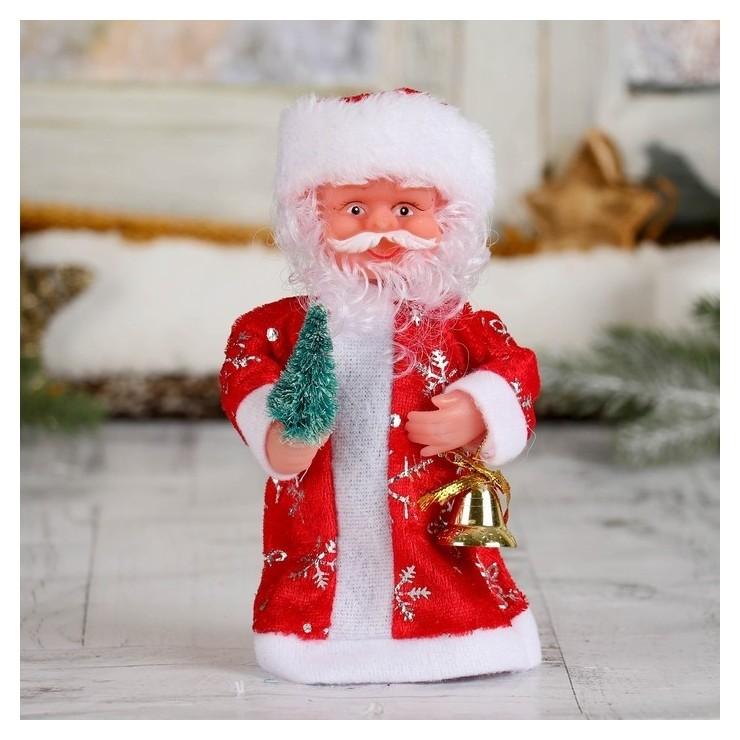 Дед мороз, в длинной шубе, с ёлкой, без музыки Зимнее волшебство