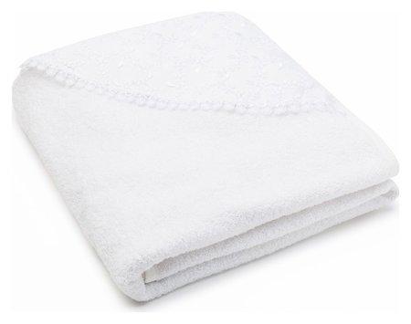 Полотенце-уголок для крещения, размер 100*100 см, цвет белый К40  Осьминожка