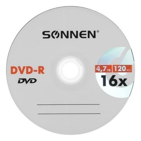 Диск Dvd-r Sonnen, 16x, 4.7 Гб, конверт, 1 шт  Sonnen