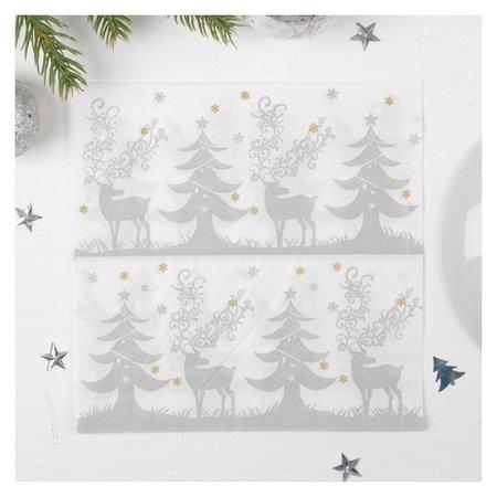 Салфетки бумажные «Зимний лес», 33х33 см, набор 20 шт. Страна Карнавалия