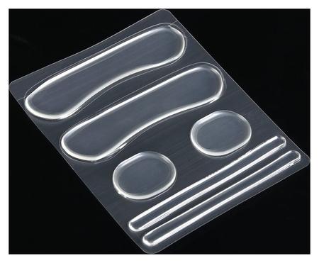Набор вкладышей для обуви, на клеевой основе, силиконовые, 6 шт, цвет прозрачный  NNB