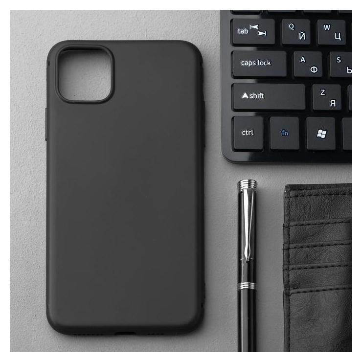 Чехол Innovation, для Iphone 11 Pro Max, силиконовый, матовый, черный Innovation