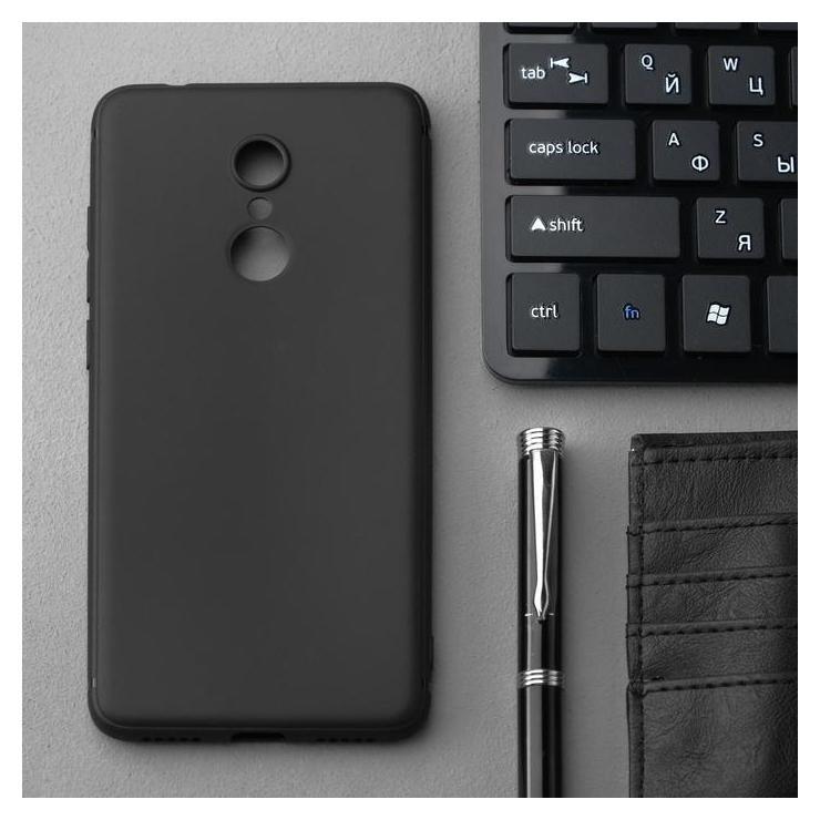 Чехол Innovation, для Xiaomi Redmi 5, силиконовый, матовый, черный Innovation