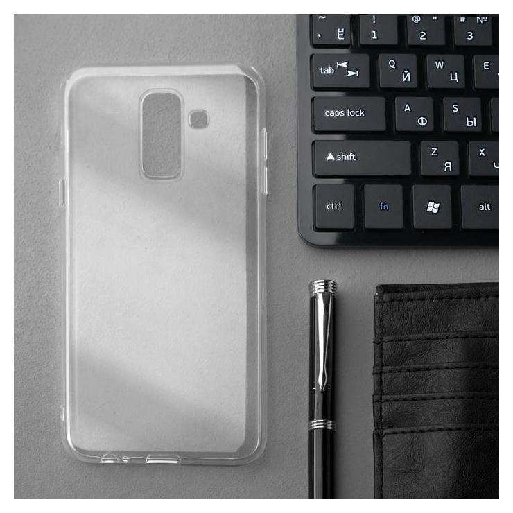 Чехол Innovation, для Samsung A6 Plus (2018), силиконовый, прозрачный Innovation