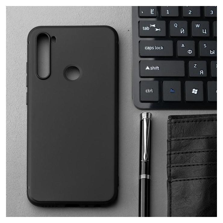 Чехол Innovation, для Xiaomi Redmi Note 8T, силиконовый, матовый, черный Innovation