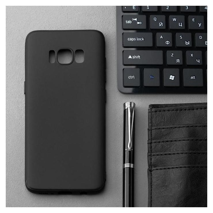 Чехол Innovation, для Samsung Galaxy S8, силиконовый, матовый, черный Innovation