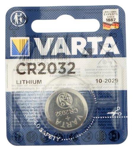 Батарейка литиевая Varta, Cr2032-1bl, 3В, блистер, 1 шт. Varta