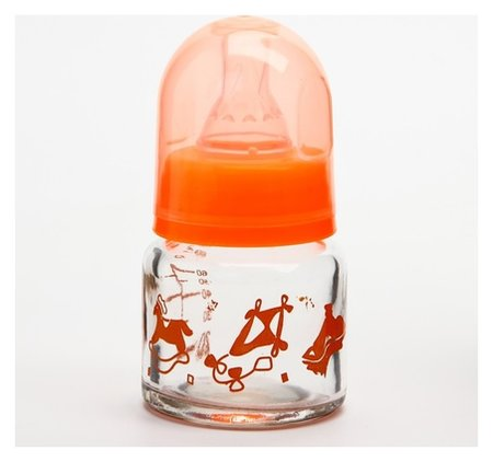 Бутылочка для кормления стеклянная, средний поток, 60 мл  Крошка Я