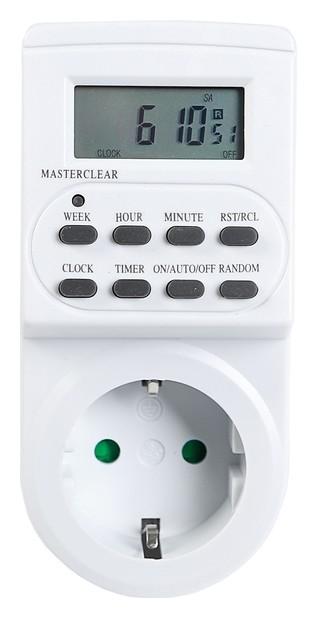 Таймер розеточный Smartbuy, электронный, 3500 Вт, недельный+суточный  Smartbuy