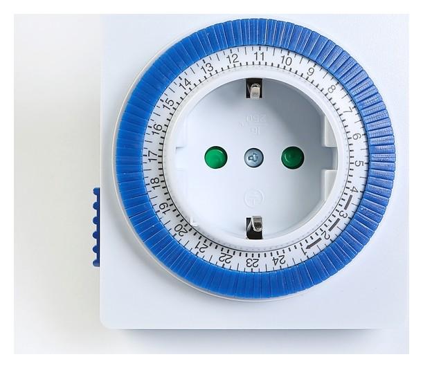 Таймер розеточный Smartbuy, механический, 3500 Вт, 96 вкл./выкл. сутки, интервал 15 мин  Smartbuy