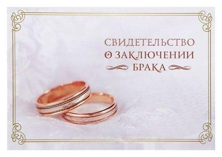 """Папка под свидетельство о заключении брака """"Кольца""""  NNB"""