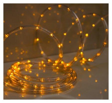 LED шнур 10 мм, круглый, 20 м, чейзинг, 2w-led/м-24-220v, с контр. 8р, желтый  LuazON