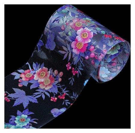 Переводная фольга для декора «Цветы», 4 × 50 см, разноцветная  NNB
