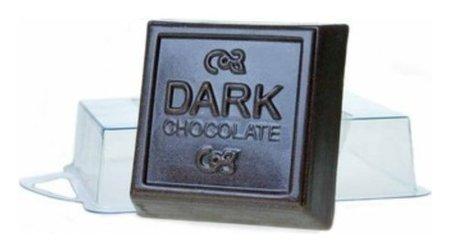 """Пластиковая форма для мыла """"Тёмный шоколад"""" 6,5х6,5х2,5 см  Выдумщики"""