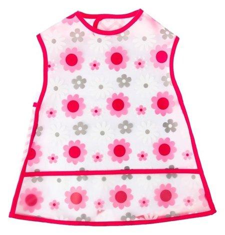 Нагрудник «Цветы», непромокаемый, на липучке, с карманом  Mum&baby