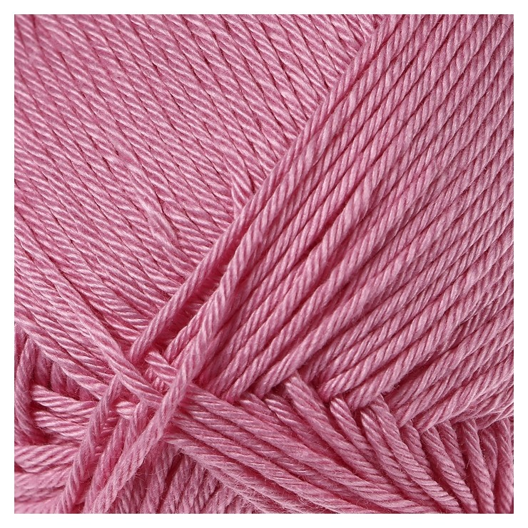 Пряжа Бонди 100% мерсеризованный хлопок 270м/100гр (054 супер розовый) Камтекс