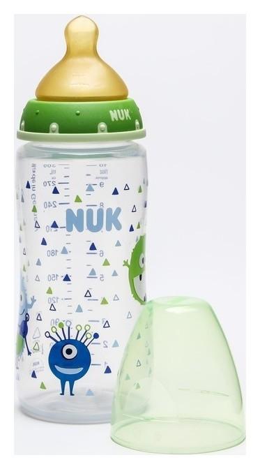 Бутылочка для кормления, соска латекс., 300 мл., средний поток, от 0 мес., разм. 1 М  Nuk