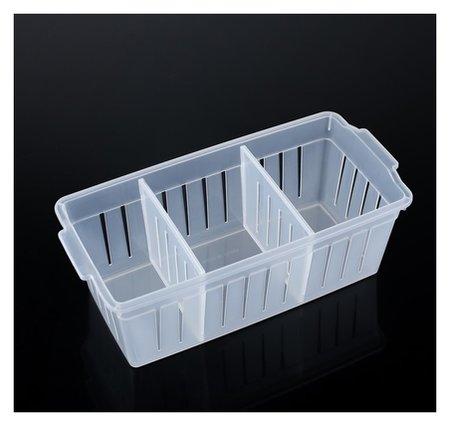 """Органайзер для хранения """"Решение"""", со съёмными перегородками, прозрачный  NNB"""