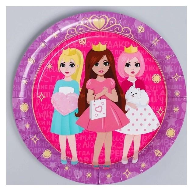 Тарелка бумажная «Куклы-принцессы», набор 6 шт. NNB
