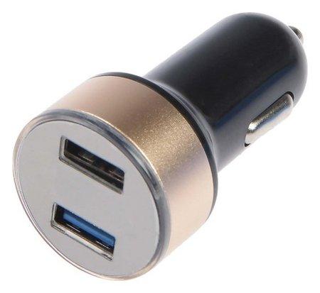 Автомобильный вольтметр + зарядное устройство 12-24 В, 2 USB 2А  Cartage