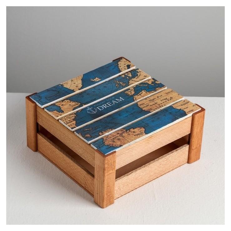 Коробка деревянная подарочная Follow Your Dream, 20 × 20 × 10 см Дарите счастье