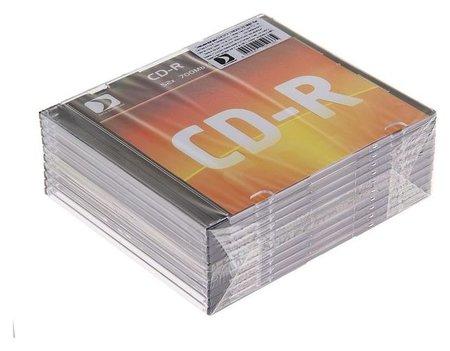 Диск Cd-r Data Standard, 52x, 700 Мб, Slim, 10 шт  КНР