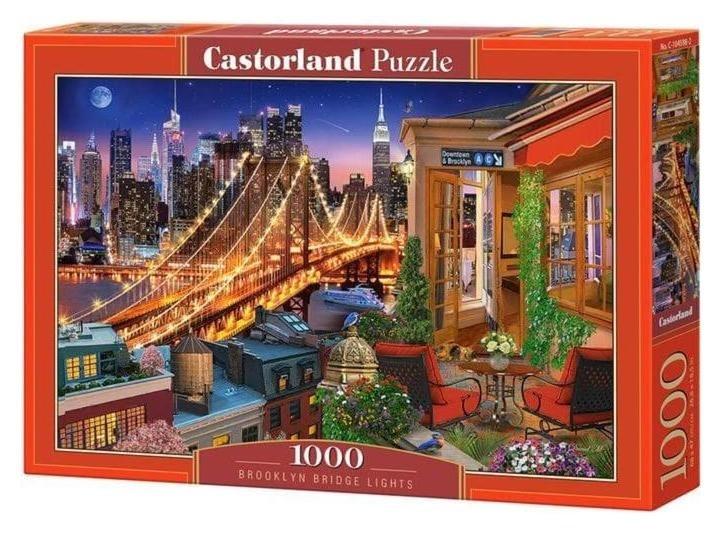 Пазл 1000 элементов «Огни бруклинского моста» Castorland
