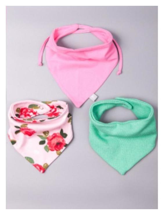 Снуд детский (3шт), цвет розовый, размер 34-17 см (6-9 мес.) NNB