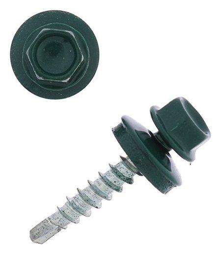 Саморезы кровельные 4.8х29 Ral6005, темно-зеленый, 250 шт.  NNB