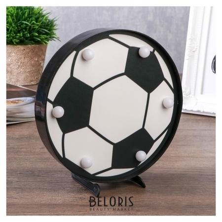 Ночник Футбольный мяч 6хled батарейки 2хaa черный/белый 16х2,8х16 см. КНР