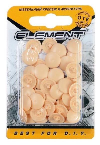 Заглушки на шуруп №2, цвет сосна, 40 шт.  NNB