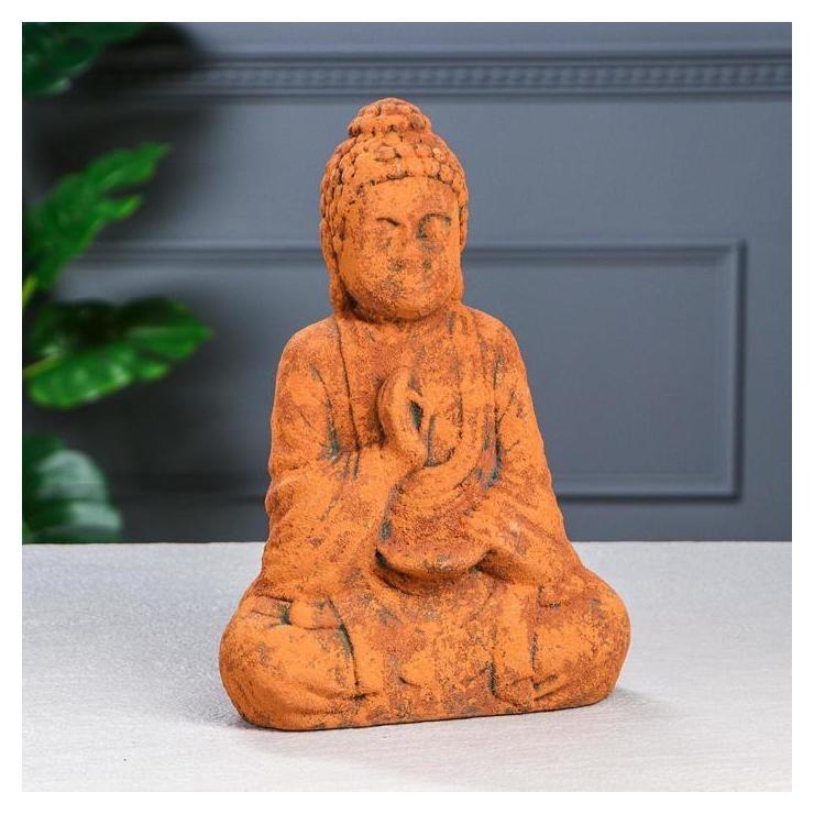 Сувенир Будда состаренный, ржавый цвет, 17,5 см Керамика ручной работы