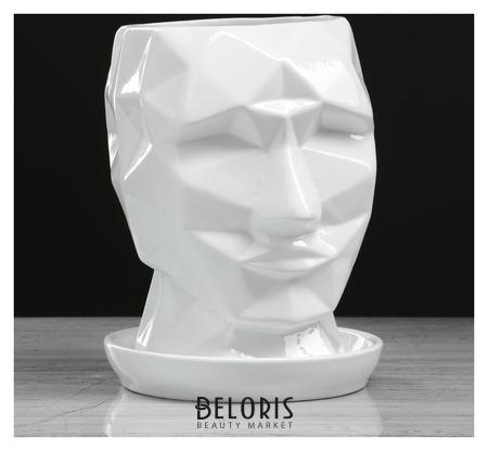 Горшок для цветов Кай 2 л, белый, глянец Керамика ручной работы