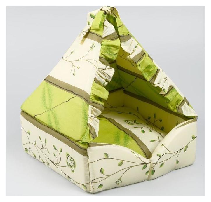 "Домик ""Люлька"", закрытый, 40х40х45 см, зеленый оттенок  NNB"