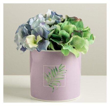 Керамический белый горшок «Лист», 10 х 10 см  Дарите счастье