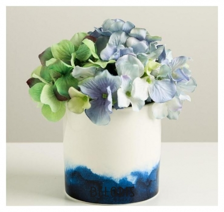 Керамический белый горшок «Градиент», 10 х 10 см Дарите счастье