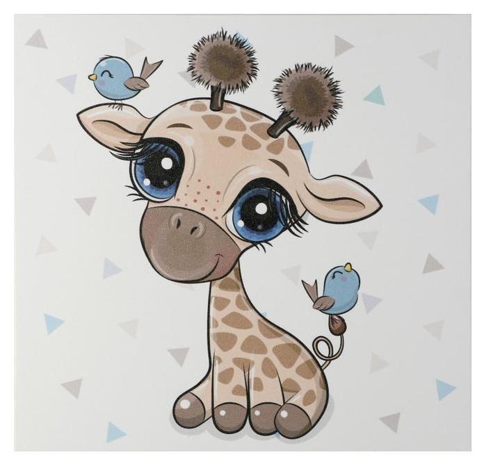 Картина Милый жирафик 35х35 см NNB