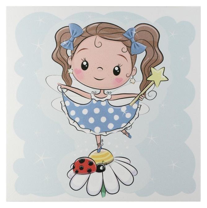 Картина Девочка на ромашке 35х35 см NNB