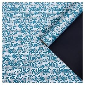 """Пленка для цветов """"Рябь"""", синий, 0,58 х 10 м"""