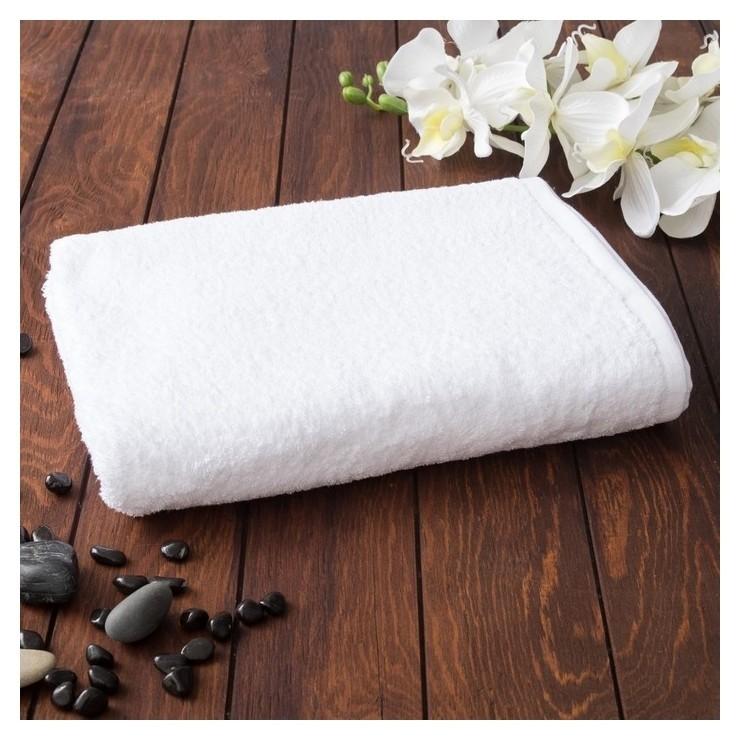Полотенце махровое, 70х140 см, цвет белый Антей