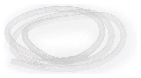 Бижутерная сетка-рукав, 8мм, 1 метр, цвет белый NNB