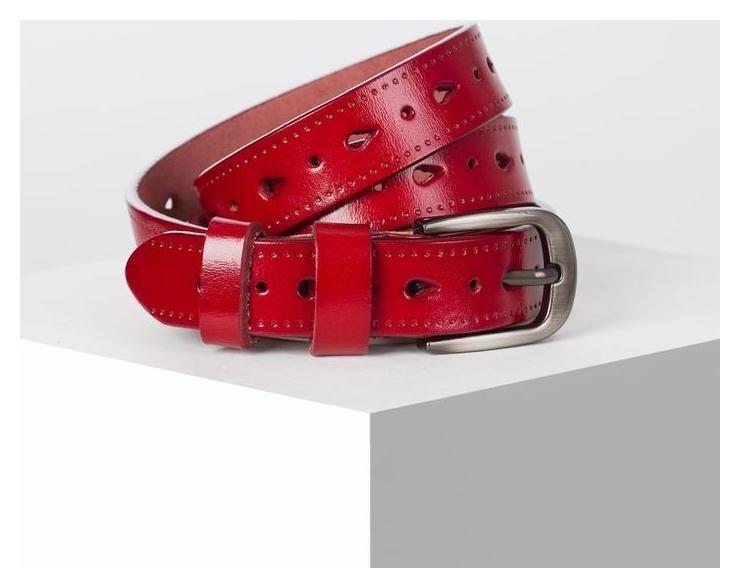 Ремень женский, ширина 2,5 см, пряжка металл, цвет красный NNB
