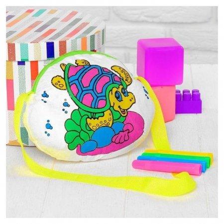 Сумка-раскраска «Черепашка» (Без маркеров) в пакете  Школа талантов