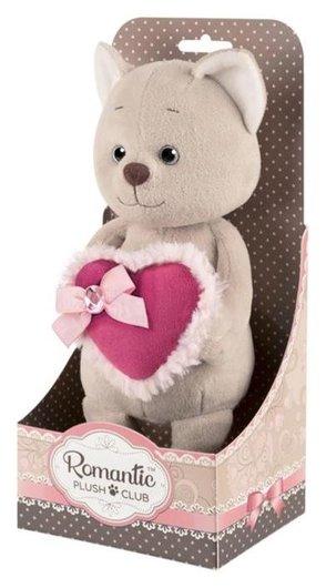 Мягкая игрушка «Романтичный котик» с розовым сердечком, 20 см  Maxitoys