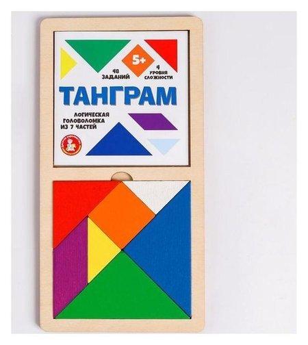 Игра головоломка деревянная «Танграм» (Цв, бол) Десятое королевство