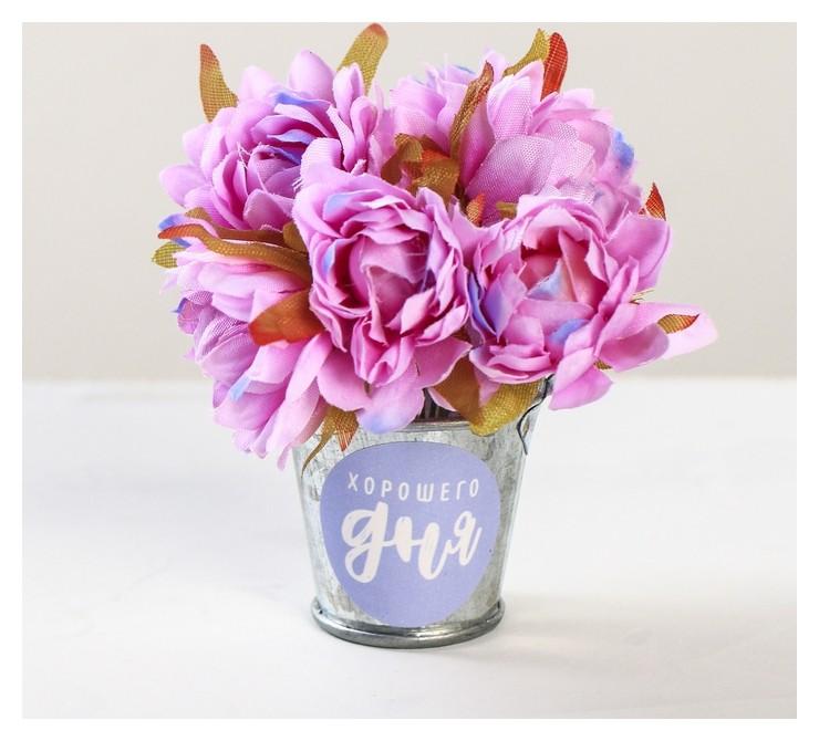 """Цветочный комплимент """"Этот день дарит радость"""" 5 × 7 × 5 см  Арт узор"""