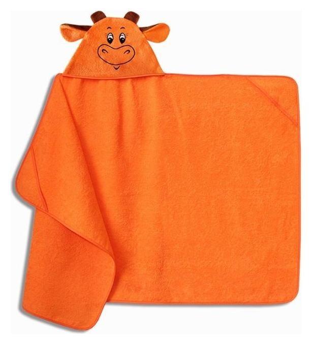 """Полотенце-накидка махровое """"Бычок"""" 75х125см, оранжевый, хл100%, 300 г/м  Гранд-стиль"""