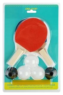 Набор для настольного тенниса, детский, 2 ракетки, 3 мячика, сетка, присоски 2 шт.,штатив 2 шт.