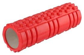 Роллер массажный для йоги 45 х 15 см, цвет красный