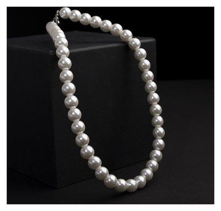 """Бусы жемчуг """"Невеста"""" бусины D=1,5см, цвет белый, 40 см  Queen Fair"""
